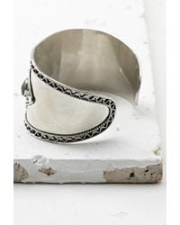 Forever 21 - Metallic Etched Faux Stone Cuff - Lyst