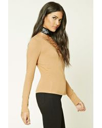 Forever 21 | Black Contemporary Lace-up Top | Lyst