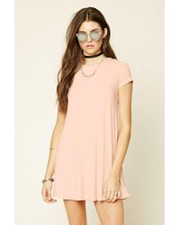 Forever 21 - Blue Lace-up Tent Dress - Lyst
