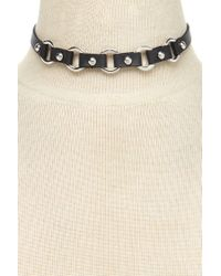 Forever 21 - Black Studded Faux Leather Choker - Lyst
