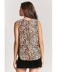 Forever 21 - Black Leopard Print Trapeze Top - Lyst