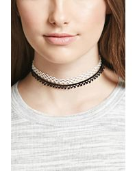 FOREVER21 - Multicolor Crochet Knit Choker Set - Lyst