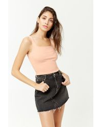 Forever 21 - Pink Square-neck Crop Top - Lyst