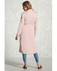Forever 21 - Pink Double-breasted Trench Coat - Lyst
