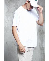 Forever 21 | White Slub Knit Zipper Pocket Tee for Men | Lyst