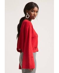 Forever 21 - Red Bell-sleeve Cutout Jumper - Lyst