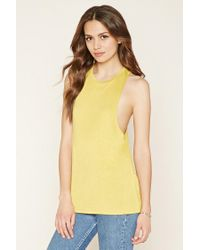 Forever 21 | Yellow Contemporary Tank | Lyst