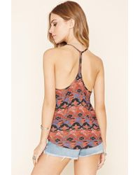 Forever 21 - Multicolor Abstract Print Cami - Lyst