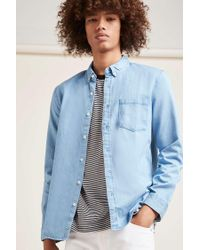 Forever 21 | Blue Denim Pocket Shirt for Men | Lyst