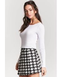 Forever 21 - White Lettuce-edge Crop Top - Lyst