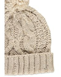 Forever 21 - Brown Cable Knit Pom Beanie - Lyst