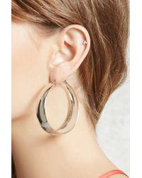 Forever 21 - Metallic Wide Hoop Earrings - Lyst
