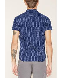 Forever 21   Blue Abstract Print Slim Fit Shirt for Men   Lyst