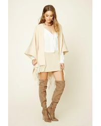 Forever 21 - Natural Woven Fringed Shawl - Lyst