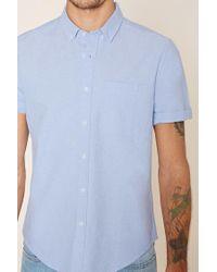 Forever 21 - Blue 's Cotton-blend Shirt for Men - Lyst