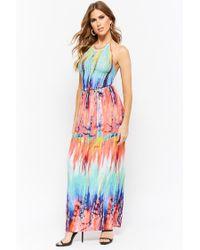 Forever 21 - Multicolor Tie-dye Maxi Dress - Lyst