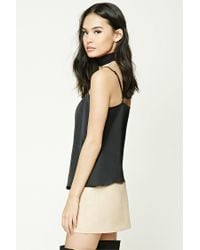 Forever 21 | Black Satin Cami Top | Lyst