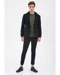 Forever 21 - Black Knit-hooded Coat for Men - Lyst