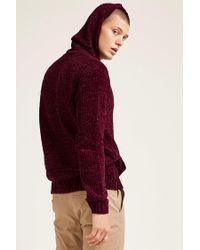 Forever 21 - Red Hooded Chenille Sweater for Men - Lyst