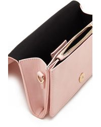 Forever 21 - Pink Faux Leather Crossbody - Lyst