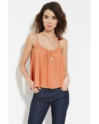 Forever 21 - Orange Contemporary Trapeze Cami - Lyst