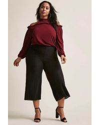 Forever 21 - Red Plus Size Open-shoulder Trapeze Top - Lyst