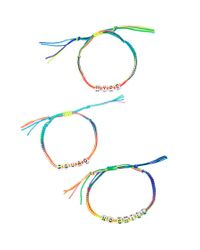 Forever 21 - Multicolor Alphabet Charm Bracelet Set - Lyst