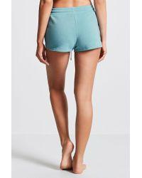 Forever 21 - Blue Fleece Knit Pj Shorts - Lyst