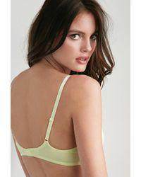 Forever 21 - Green Cotton-blend Push-up Bra - Lyst