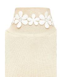 FOREVER21 - White Crochet Floral Choker - Lyst