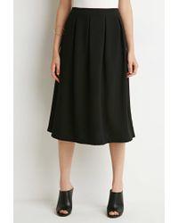 Forever 21 - Black Box Pleat A-line Skirt - Lyst