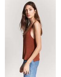 Forever 21 - Brown Sweater-knit Tank Top - Lyst