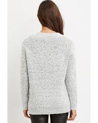 Forever 21 - Natural Loop Knit V-neck Sweater - Lyst