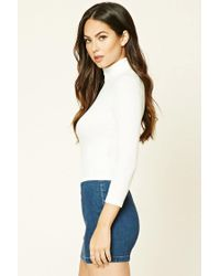 Forever 21 - White Turtleneck Knit Top - Lyst