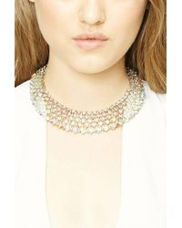 Forever 21 - Metallic Rhinestone Collar Necklace - Lyst