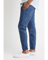 Forever 21 - Blue Garment-dyed Chino Joggers for Men - Lyst