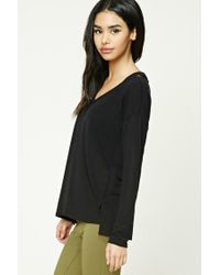 Forever 21 - Black Strappy Cutout Top - Lyst