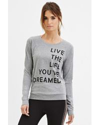 Forever 21 - Gray Active Live Life Graphic Tee - Lyst
