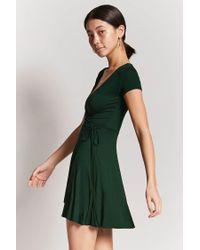 Forever 21 Green Surplice Wrap Dress