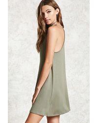 Forever 21 - Green Women's Cami Swing Dress - Lyst