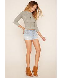 Forever 21 - Green Marled Knit Sweater - Lyst