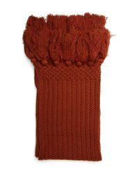 Forever 21 - Brown Tassled Ribbed Knit Scarf - Lyst