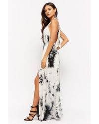 Forever 21 - Black Tie-dye M-slit Maxi Dress - Lyst