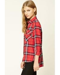 Forever 21 - Red Rock N Roll Check Shirt - Lyst