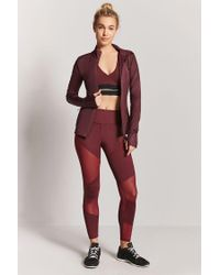 Forever 21 - Red Women's Active Zip-front Jacket - Lyst