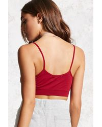 Forever 21 - Red Caged Cutout Bralette - Lyst