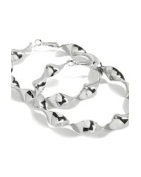 Forever 21 - Metallic Twisted Hoop Earrings - Lyst
