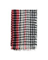 Forever 21 - Red Tartan Pile Knit Oblong Scarf - Lyst