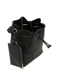 Forever 21 | Black Faux Leather Cutout Bucket Bag | Lyst