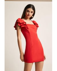 Forever 21 - Tiered Ruffle Bodycon Dress - Lyst